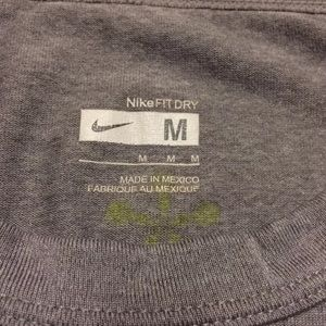 Nike Shirts - Nike Fit Dry Gray Athletic Bring Thunder Sparq
